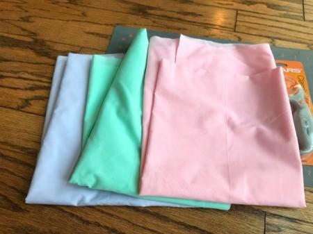 Fabric Garland - pastel fabric