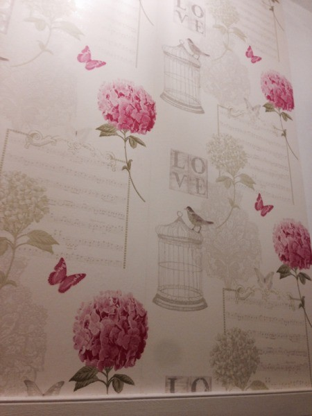 Finding Discontinued Wallpaper - flowers, butterflies and birdcage pattern