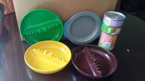 Ash Tray as Cat Food Bowl - vintage ash trays