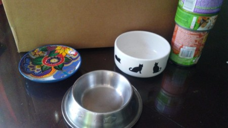 Ash Tray as Cat Food Bowl - examples of cat food dishes that work or don't