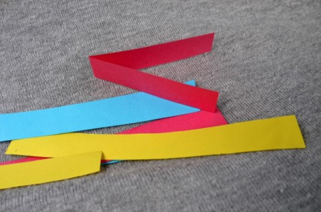 Heart Shaped Paper Chain - strips of paper