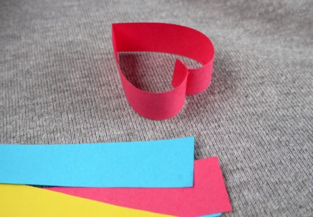 Heart Shaped Paper Chain - paper heart