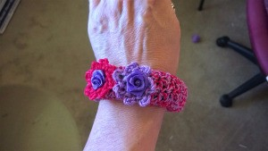 A Bevy of Crochet Bangles - finished covered bangle