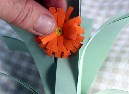 Paper Flower Bouquet - attach to the stems