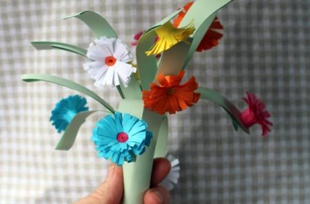 Paper Flower Bouquet - vase of flowers