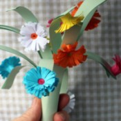 Paper Flower Bouquet - vase of flowers