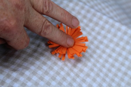 Paper Flower Bouquet - press down in the center to splay out the the petals