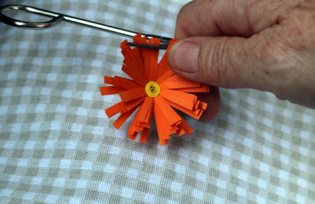 Paper Flower Bouquet - use scissors to curl the petals a bit