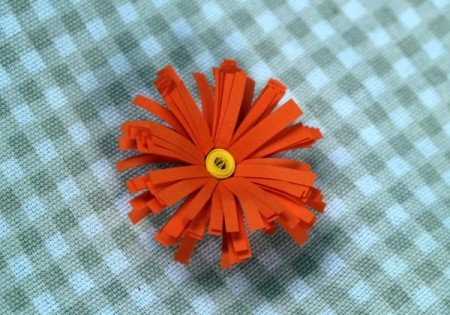Paper Flower Bouquet - curled petals
