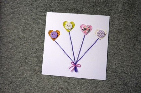 Heart Balloons Greetings Card - done