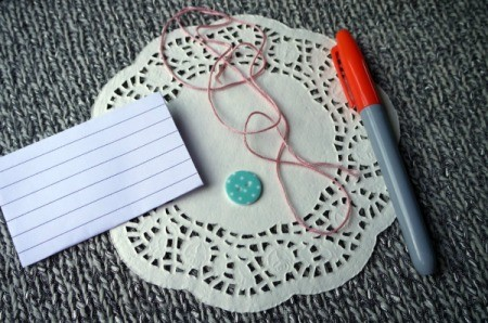 Paper Doily Envelope - supplies