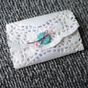 Paper Doily Envelope - finished envelope