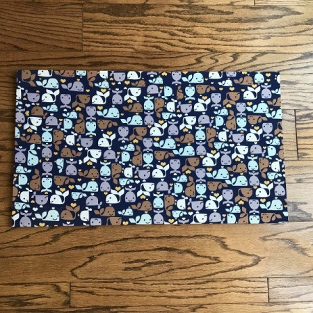 Fabric Corkboard  - front of fabric wrapped board