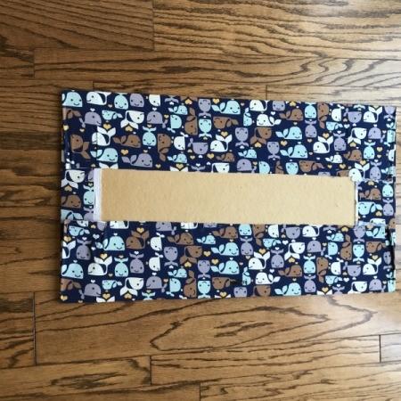 Fabric Corkboard  - back view of fabric wrapped board
