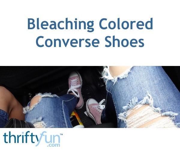 b2919cae2797f4 Bleaching Colored Converse Shoes