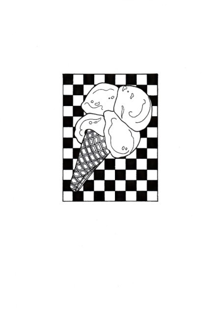 Magical Summer Birthday Card - ice cream cone pattern