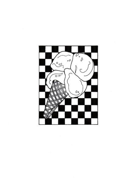 Magical Summer Birthday Card - ice cream cone pattern