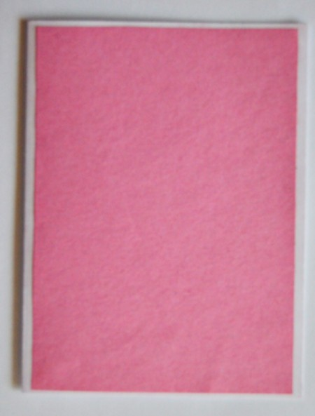 Magical Summer Birthday Card - glue the dark pink sugar paper to the folded cardstock