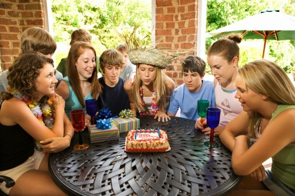Teenagers At A 14th Birthday Party