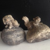 Identifying Stone Garden Ornaments - dog and squirrel castings