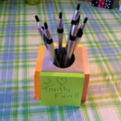 Post-it Note Pen Holder