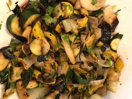Grilled Vegetable Salad on plate