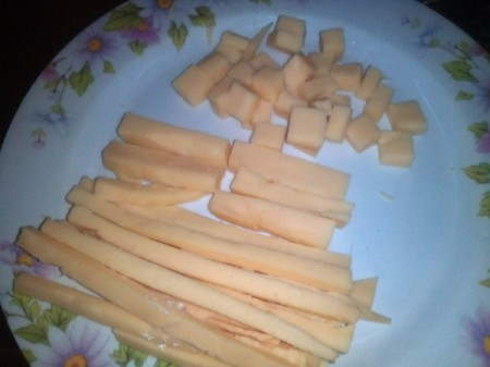 Cheese Sticks and cubes