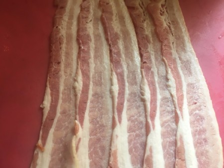 bacon laid side by side