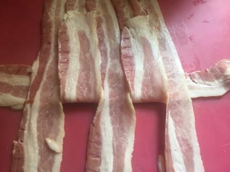 weaving bacon strips
