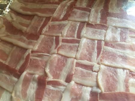 Woven Bacon ready to bake