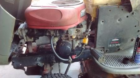 Craftsman Riding Mower Won't Start - closeup of mower engine