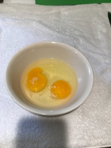 two eggs in bowl