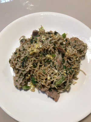 Pork Yakisoba on plate