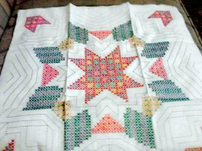 Finding Wonderart Stamped Cross Stitch Quilt Blocks Thriftyfun