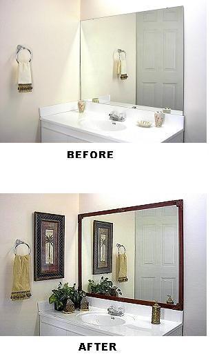 Dressing Up a Bathroom Mirror | ThriftyFun