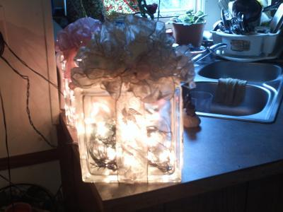How much to charge for glass block decorations thriftyfun - Glass block decoration ideas ...