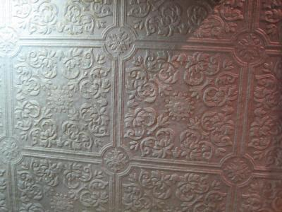 Using Heavy Textured Wallpaper On Ceilings And Side Walls