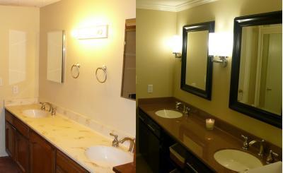 Painting Bathroom Sink Countertop