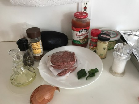 Easy Moussaka ingredients