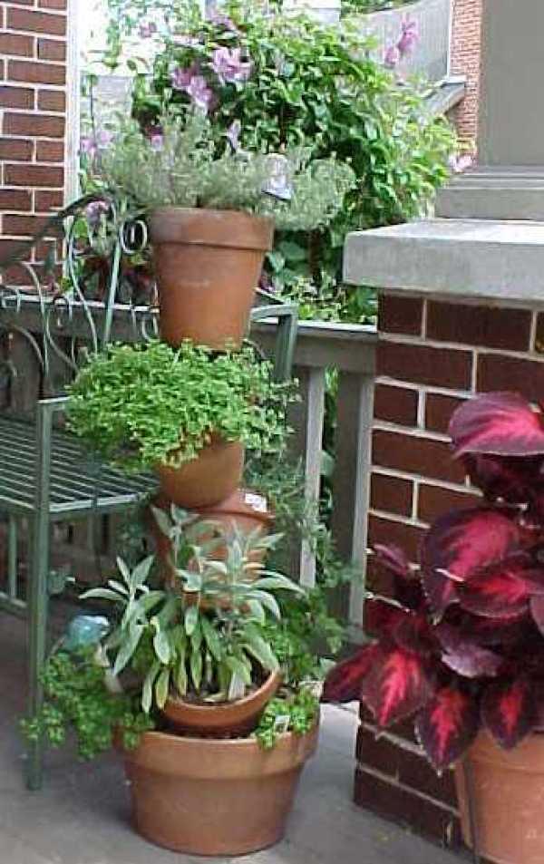 Stacked Terra Cotta Pot Plant Stand Thriftyfun