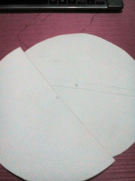 Day and Night Spinning Card - mark the center of the pieces of cardboard