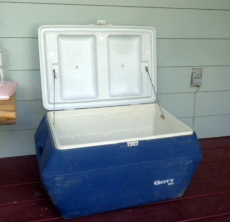 Replacement Ice Containers for Gott 60 Ice Chest - blue and white ice chest