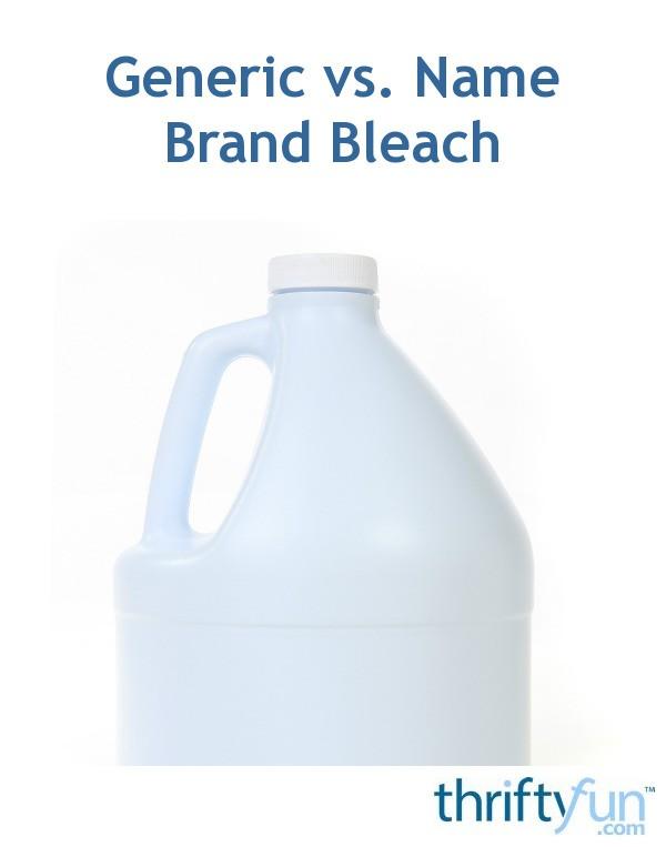 Generic Vs Name Brand Bleach