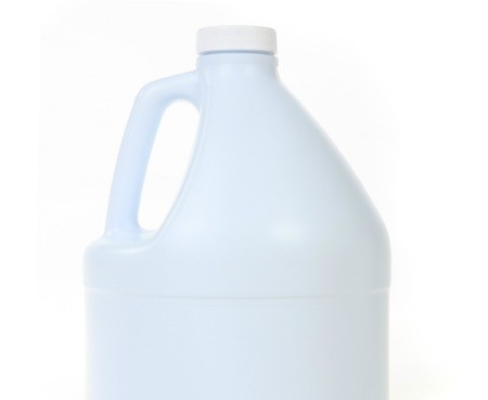 A generic white bleach bottle.