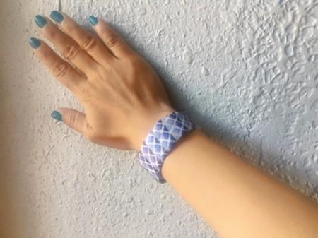 Plastic Bottle and Washi Tape Bracelet - wear bracelet