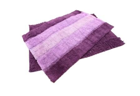 Purple rubber backed rugs.