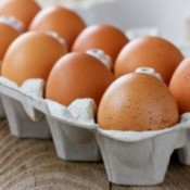 Fresh eggs from free range chickens.