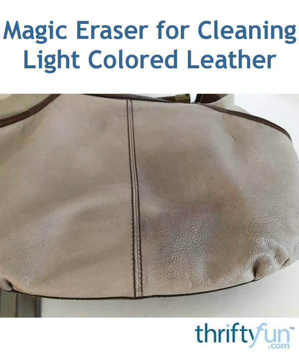 how to clean light colored leather