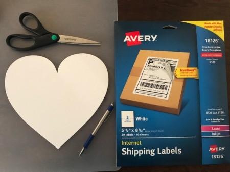 Geometric Paper Heart Decor - supplies