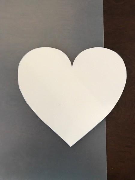 Geometric Paper Heart Decor - traced paper heart
